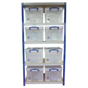 Storage Shelving (900 x 450) 8 x 35 Litre Really Useful Boxes